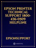 Epson Printer Technical Support 1800-436-0509 Helpline